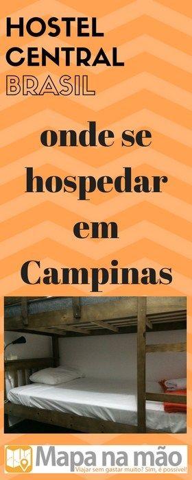 Onde ficar em Campinas - Hostel Central Brasil - Mapa na mão