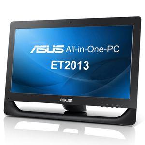 """PC de bureau ASUS All-in-One PC ET2013IUTI-B003E Noir Intel Pentium G645 4 Go 500 Go LED 20"""" Tactile Graveur DVD Wi-Fi N Windows 7 Professionnel 64 bits"""