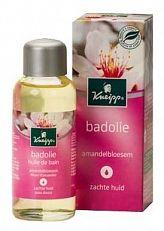 Kneipp Badolie Amandelbloesem 100ml  Deze heerlijk geurende Kneipp amandelbloesem badolie biedt de huid actieve bescherming en voelbare verzorging. Je huid voelt hierdoor weer soepel en zacht aan. De zoete amandelolie met essentiële vetzuren en met vitamine E ondersteunt de natuurlijke hydratatie van je huid.Bijzonder geschikt voor mensen met een droge en/of gevoelige huid.  EUR 9.14  Meer informatie  #drogist