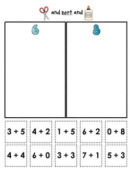"Sample page from ""Sum Sorts"" {Early Math Sorting Series, Set #2}  $"