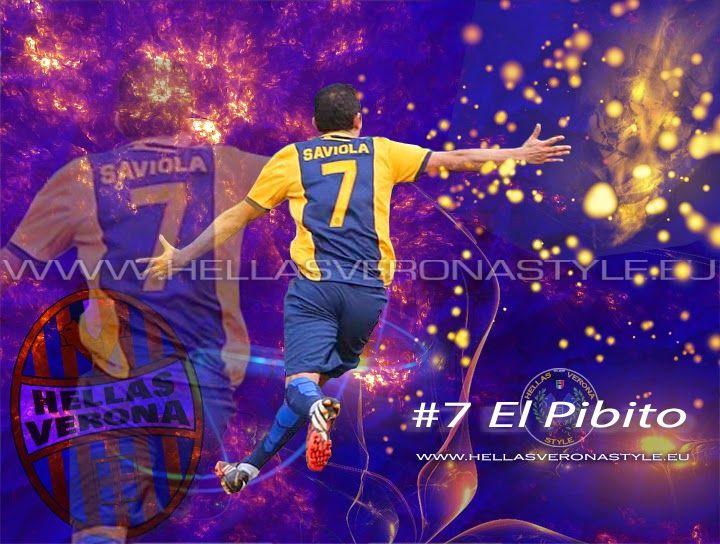 Grafica per Javier Saviola, el conejo, el pibito dell' Hellas Verona, dopo il gol vittoria contro l'Atalanta (1-0). www.hellasveronastyle.eu
