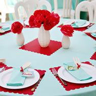 cute table for bridal shower