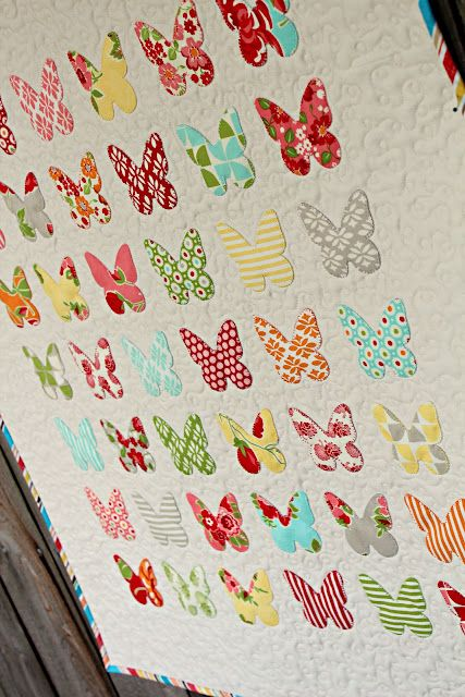 Frivolous Necessity's adorable butterfly specimen quilt applique in Marmalade.  So simple and sweet.