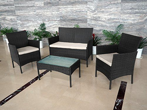 Rattan Garden Furniture Set Patio Conservatory Indoor Outdoor 4 Chairs Table (Black) https://www.uk-rattanfurniture.com/product/tectake-luxury-rattan-aluminum-garden-furniture-sofa-set-outdoor-wicker-brown/