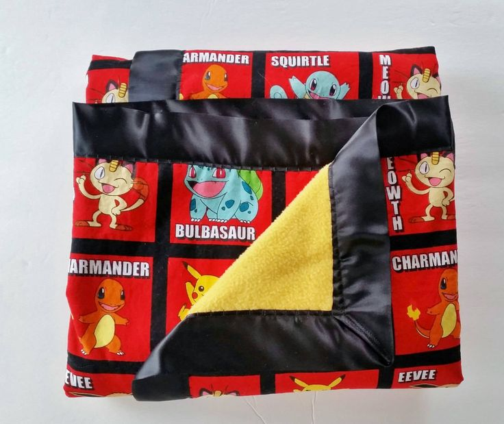 Pokemon Blanket, Throw, Lap Blanket, Pokemon Bedding, Gift, Baby Shower Gift by PearlsHomespun on Etsy #pokemon, #blanket, #throw, #handmade, #personalized