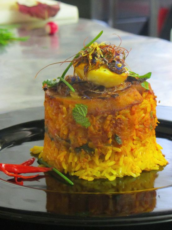 Pamper your tastebuds with an aromatic Seafood Biryani made with a traditional Indian Spice Blend