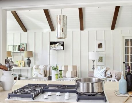 ceiling beams and board and batton - Google Search