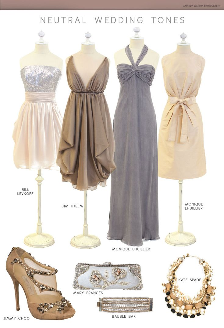 23 best neutral bridesmaid dresses images on pinterest marriage like three left dresses for bridesmaids a neutral wedding palette so clean and pretty photography by amanda watson photography ombrellifo Choice Image