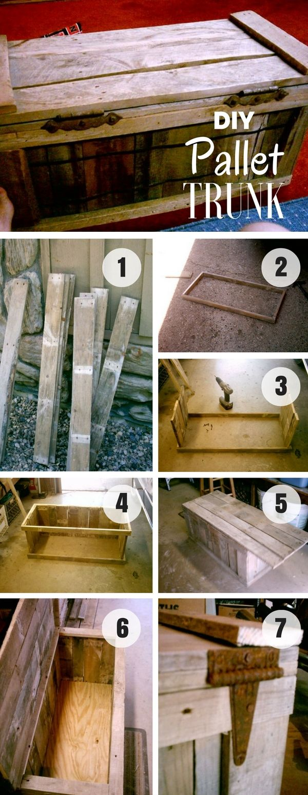 An easy tutorial to build a #DIY trunk from #PalletWood #HomeDecorIdeas #RusticDecor @istandarddesign