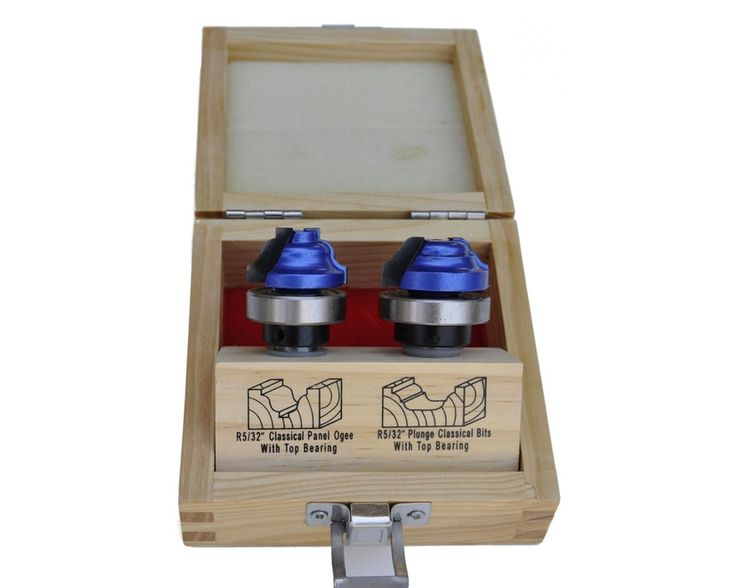 2-piece plunge panel classical ogee router bit set is a great addition to your woodshop for making those fancy designs using a template as a guide. This type of routing looks great on cabinet side-panels, doors, or other similar projects.