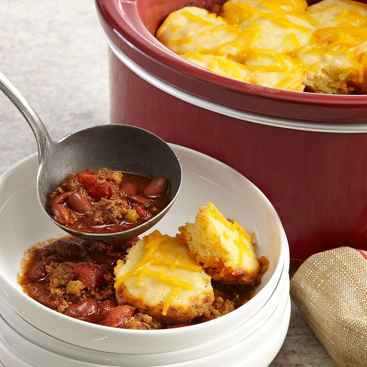 A slow cooker makes traditional tamale pie a snap, while keeping the flavors of chili and cornbread deliciously intact.
