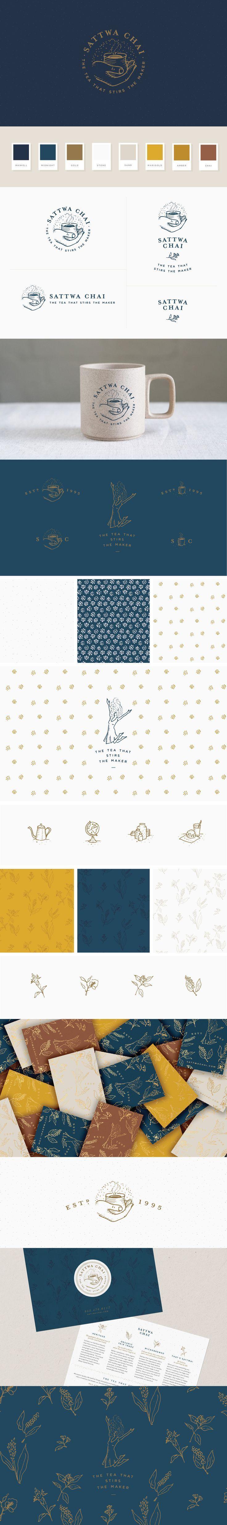 Sattwa Chaitea - logo & brand identity design crafted by Melissa Yeager