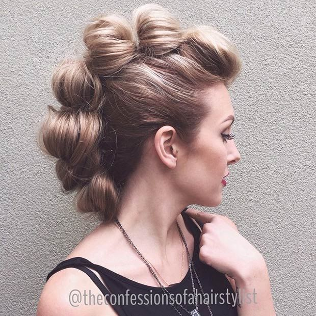 Image result for French Braid Pinup Faux Hawk