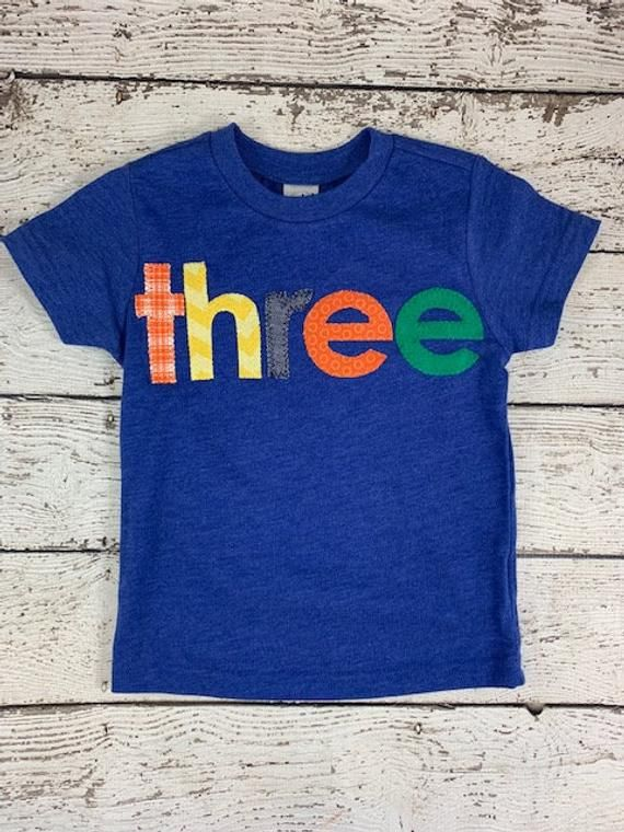 Colorful Birthday Shirt Custom Childrens Fun Tee Primary Colors Any