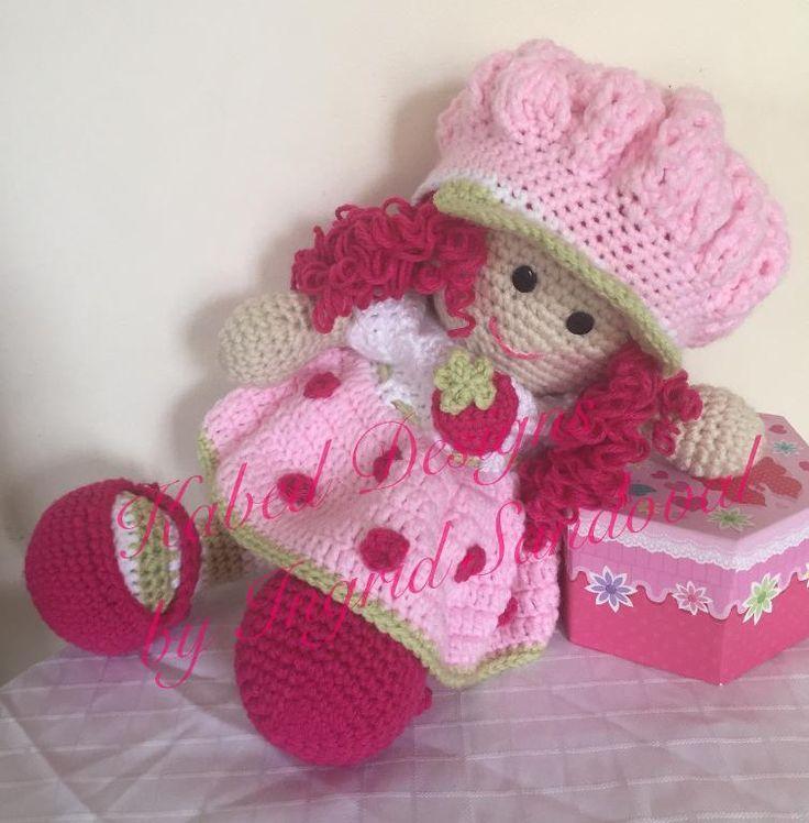 (4) Name: 'Crocheting : Strawberry shortcake doll