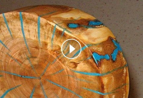 Make a log slice wood art decor