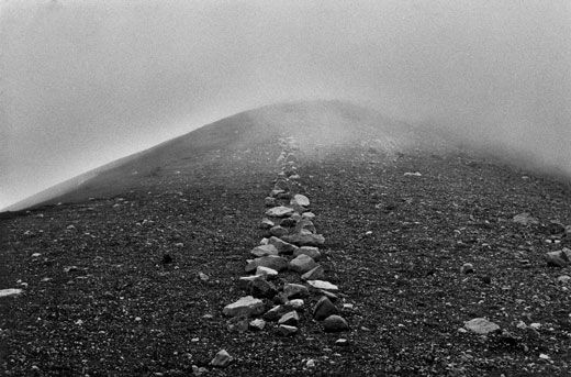 """""""In the nature of things:  Art about mobility, lightness and freedom.  Simple creative acts of walking and marking  about place, locality, time, distance and measurement.  Works using raw materials and my human scale  in the reality of landscapes."""" ~ Richard Long"""
