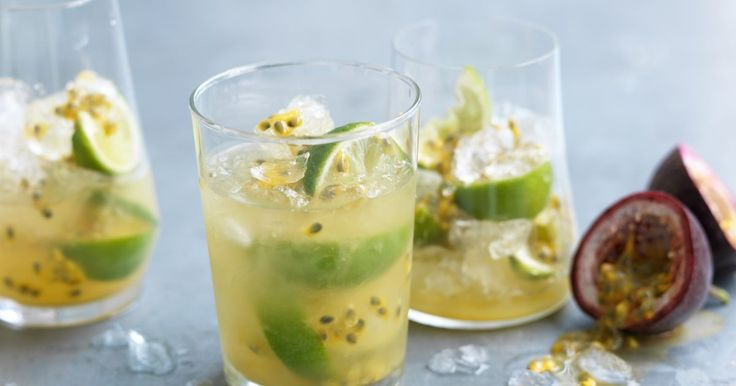 To truly appreciate this cocktail, ensure the passionfruit pulp is mixed throughout the body of the drink.