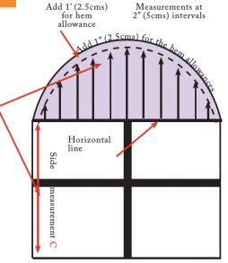 arched window making curtains pattern