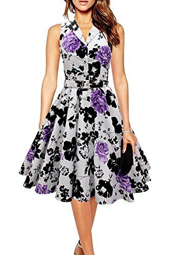 Black Butterfly Vintage 1950's Rockabilly Swing Dress (White & Purple, 4) Black Butterfly Clothing http://smile.amazon.com/dp/B00NGVLWYS/ref=cm_sw_r_pi_dp_emmvvb1EJX08D