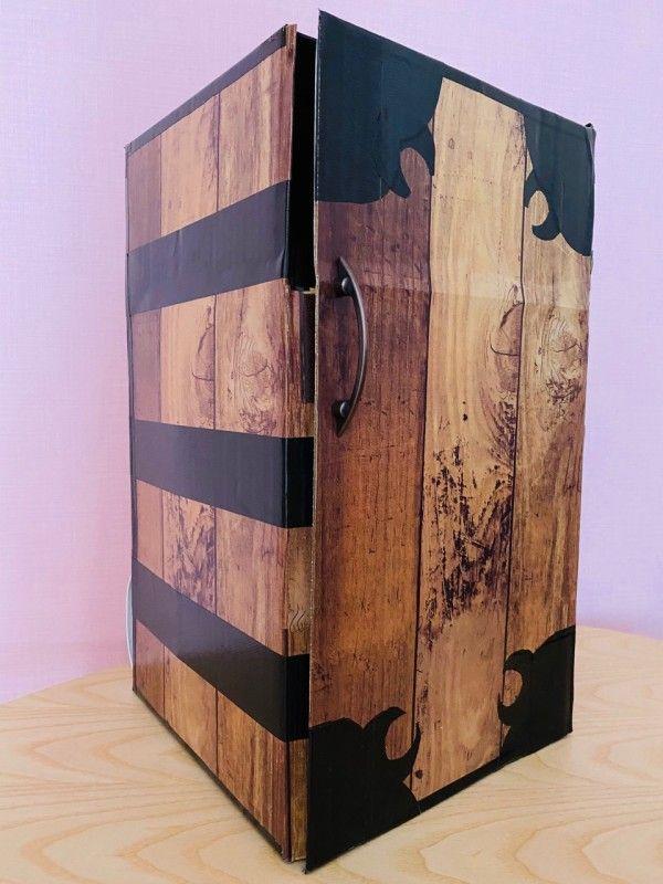 禰豆子の箱を1000円以内で作りました わたくしごとですが Powered By ライブドアブログ 箱の作り方 バースデー 飾り付け 布テープ