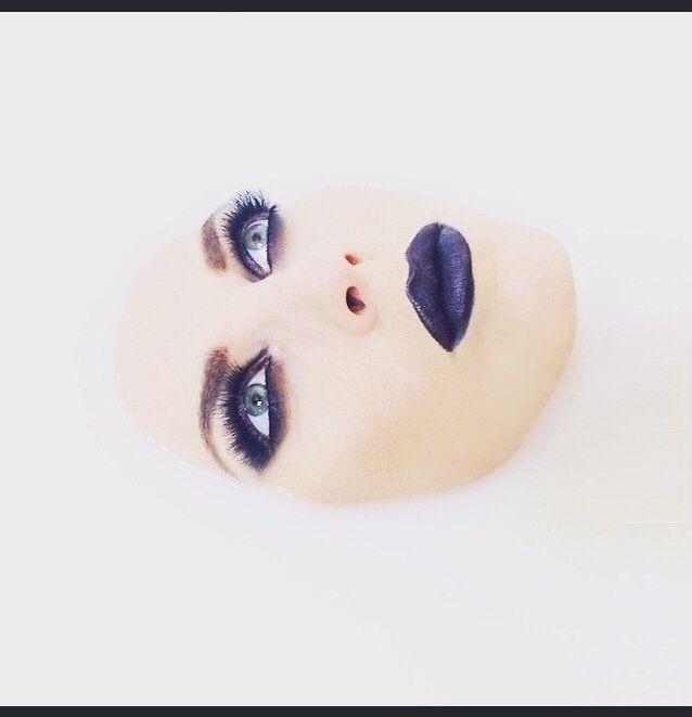 My makeup & my photo ;) High fashion makeup.  Photoshooting.  Milk photoshoot.