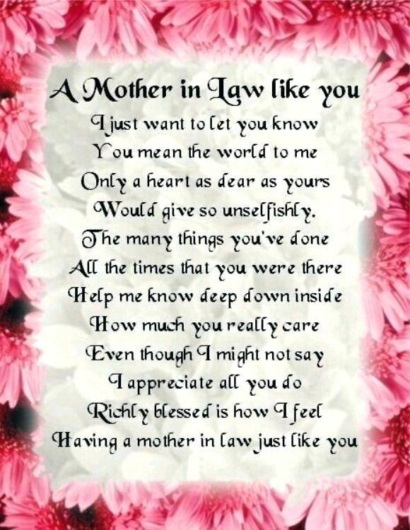 Fantastic Mother In Law Birthday Arts Good Mother In Law Birthday