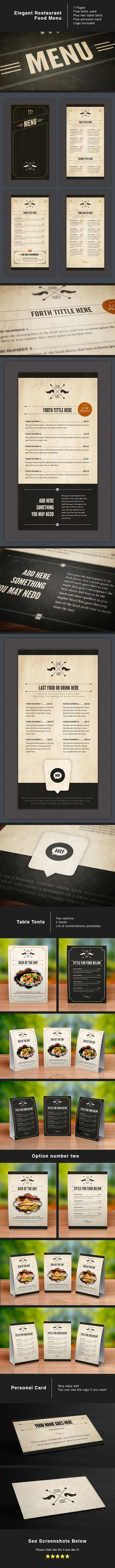 Design food Stationery for sale at: https://creativemarket.com/LuuqasDesign/181020-Elegant-Food-Menu-5?u=LuuqasDesign