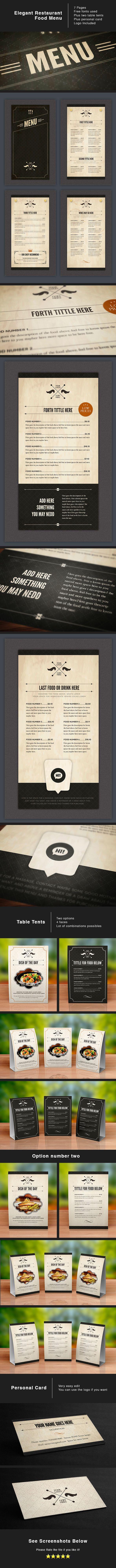 White apron menu warrington - Elegent Restaurant Menu Design
