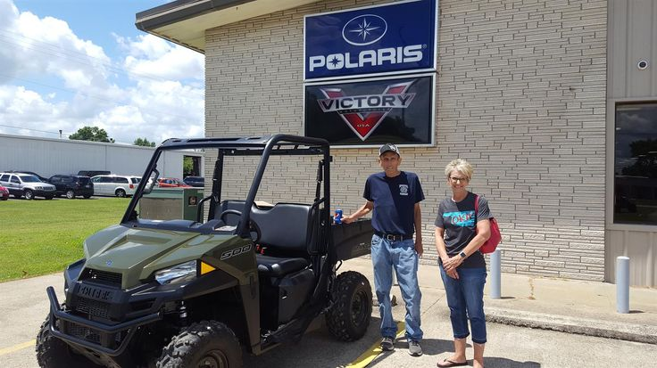 Ronnie and Marcia, we hope you enjoy your new 2017 Polaris Ranger.  Congratulations and best wishes from Jay Hatfield Motorsports and Matt Wright.