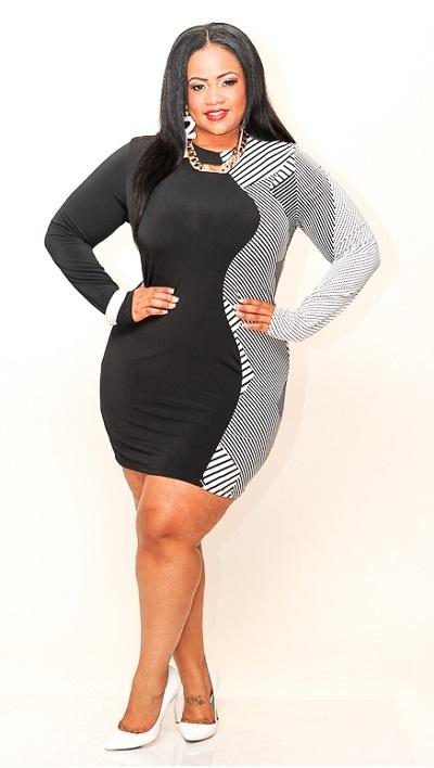3x black dress