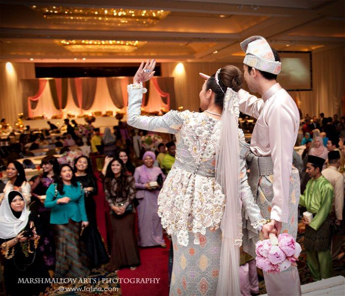 Lovely songket wedding dress