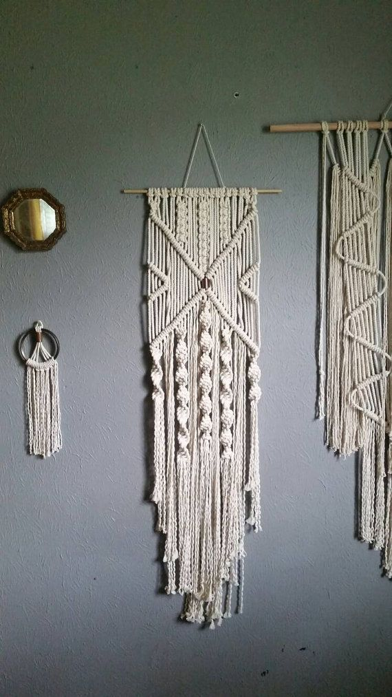 Check out this item in my Etsy shop https://www.etsy.com/listing/277002430/natural-cotton-and-copper-macrame-wall