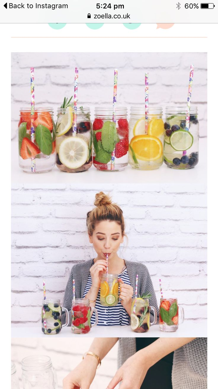 This is from zoella's blog but I just thought I would just show you some ideas for refreshing drinks. If you don't know about zoella she is a you-tuber so go check out her YouTube channel. As summer is pretty much here, more parties and picnics are being arranged and this is an excuse to go all out with creativity. Go check out zoella's blog for recipes for these drinks. I have tried them myself and honestly, they are sooooo delicious!