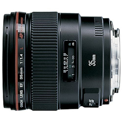 Canon EF 35mm f/1.4L USM Wide Angle Lens for Canon SLR Cameras - Fixed