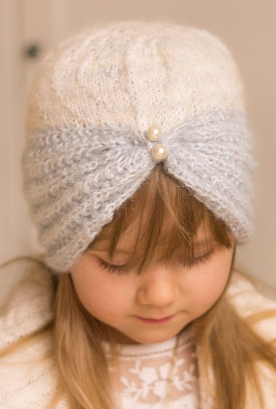 Free Knitting Pattern for Margot Turban - Classic hat or headband in sizesbaby/toddler/child/woman. Designed byMuki Crafts.