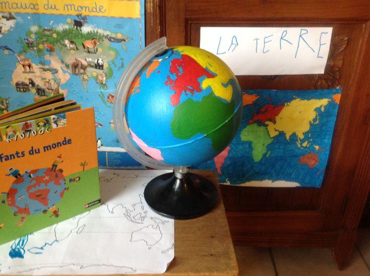 Les 25 meilleures id es concernant globe terrestre enfant - Globe terrestre en carton ...