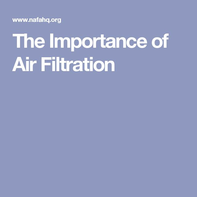The Importance of Air Filtration