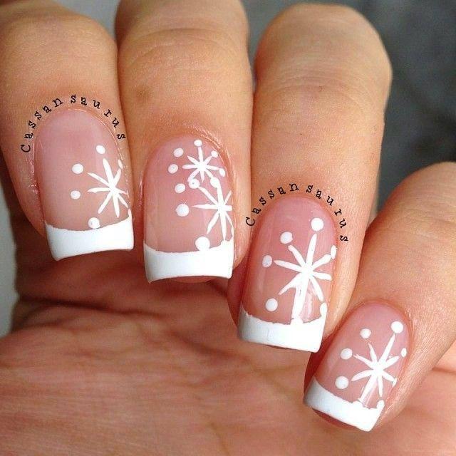 20+ Christmas Snowflake Acrylic Nail Art Designs, Ideas & Stickers 2015 | Christmas Nails