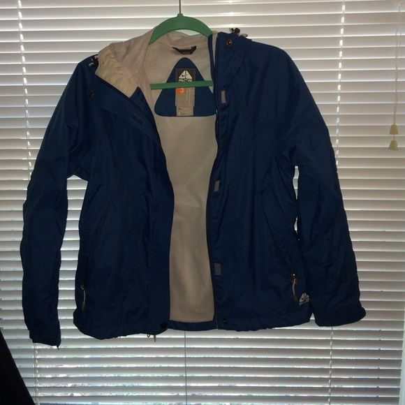 Nike rain jacket Great condition. Barely worn. Size small. Acg nike fitstorm waterproof outer layer. Nike Jackets & Coats