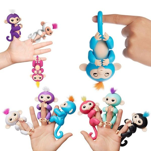 Wish | 2017 New Fingerlings Children's Toys Finger Monkey Electronic Intelligence Tactile Creative Finger Monkey