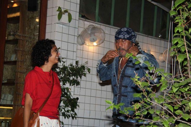 bollywoodmirchitadka: Jackie Shroff and Kiran Rao Spotted at Village Caf...