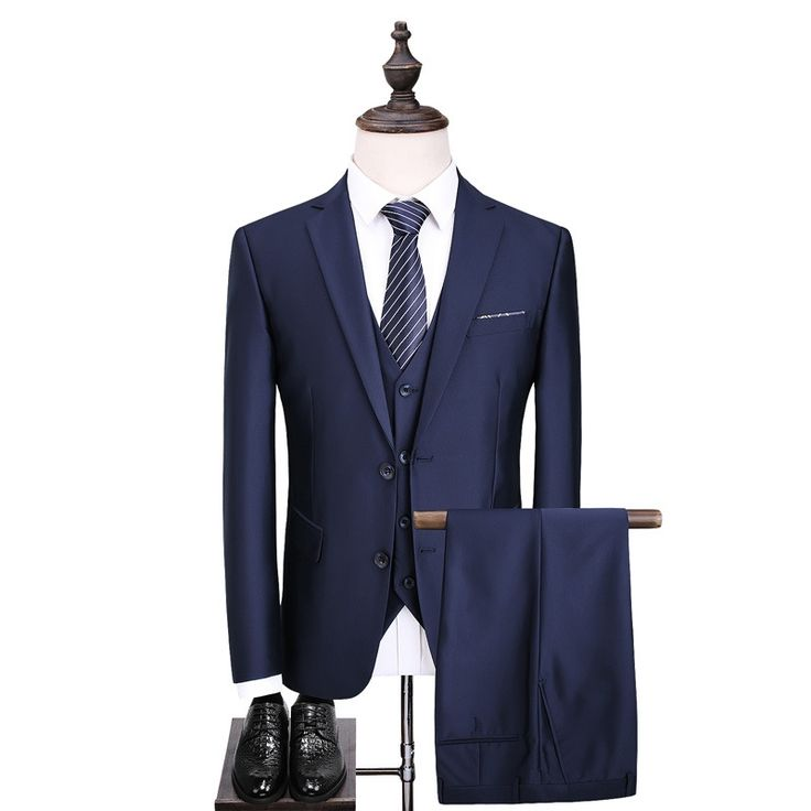 2017 new high-end men's fashion business and leisure suit three-piece business attire groom wedding dress