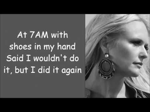 Miranda Lambert ~ Vice (Lyrics) - YouTube