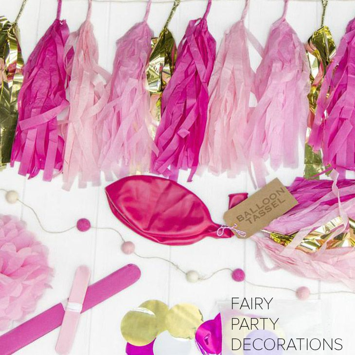 Throw your little fairy lover a birthday party she'll remember forever with our beautiful pink fairy decor!