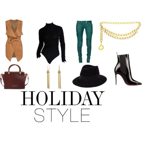 A fashion look from December 2015 by lavishsafiya featuring Donna Karan, Ted Baker, Maison Michel, Chanel, Balmain and Bling Jewelry
