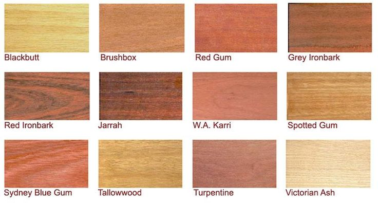 Various Timber Species Hardwood Decking Timber Deck