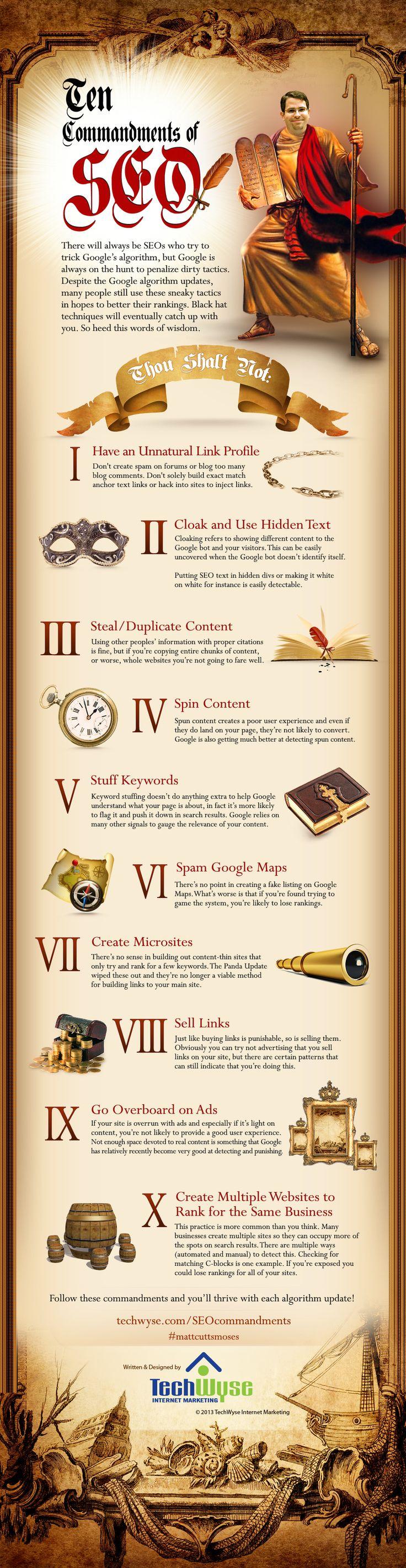 10 Commandments of SEO [Infographic]