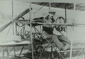 Glenn Curtiss on his Silver Dart