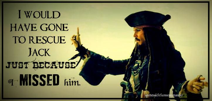Aye! Jack Sparrow Pirates of the Caribbean